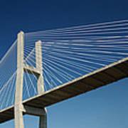 Savannah River Bridge Georgia Usa Art Print