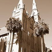 Savannah Sepia - Methodist Church Art Print