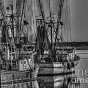 Save The Lowcountry Shrimping  Art Print