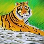 Save Tiger Art Print by Tanmay Singh