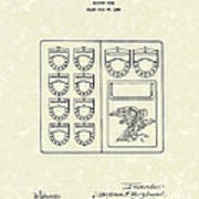 Savings Book 1926 Patent Art Art Print