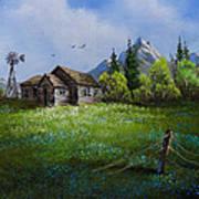 Sawtooth Mountain Homestead Art Print