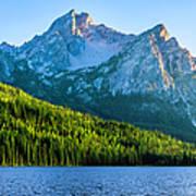 Sawtooth Mountains And Stanley Lake Art Print