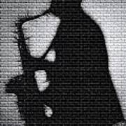 Sax On The Bricks Art Print