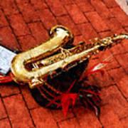 Saxophone Before The Parade Art Print