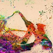 Saxophone  Art Print by Mark Ashkenazi