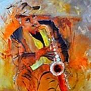 Saxplayer 88 Art Print