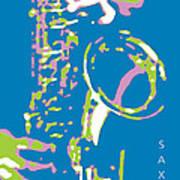 Saxy Blue Poster Art Print