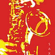 Saxy Red Poster Art Print