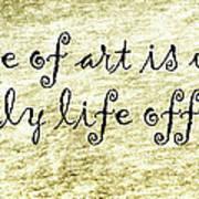 Say It Again Art Print by Joan Carroll