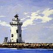 Saybrook Breakwater Lighthouse Old Saybrook Connecticut Art Print
