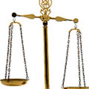 Scale Of Justice Print by Olivier Le Queinec