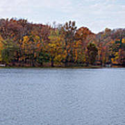 Scales Lake In Autumn Art Print by Sandy Keeton