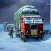 Scammell R8 Art Print by Mike  Jeffries