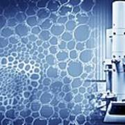 Scanning Electron Microscope, Artwork Art Print by Science Photo Library