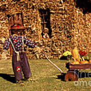 Scarecrows Play Too Art Print