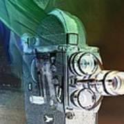Scarf Camera In Negative Art Print