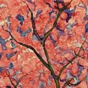 Scarlet Flowers Art Print