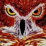 Scarlet Owl Art Print