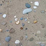 Scattered Pebbles Art Print by Margaret McDermott