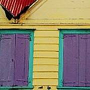 Colorful Doors In Antigua Art Print
