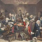 Scene In A Gaming House, Plate Vi Print by William Hogarth