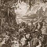 Scene Of Hell, 1731 Art Print
