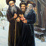 Scenes Of Jewish Life 4 Art Print
