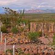 Scenic Boothill Cemetery In Tombstone Arizona Art Print