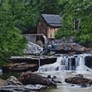 Scenic Grist Mill Art Print