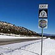 Scenic Highway 12 With Snow Utah Art Print