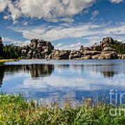 Scenic Sylvan Lake At Custer State Park Art Print