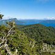 Scenic Urewera Np With Lake Waikaremoana In Nz Art Print