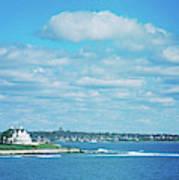 Scenic View Of Atlantic Ocean Art Print