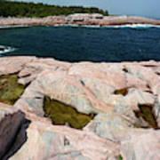 Scenic View Of Exposed Bedrock Art Print