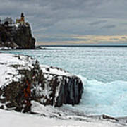 Scenic Winter Lighthouse Art Print