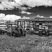 Schellbourne Station And Old Truck Art Print by Robert Bales
