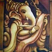Scholar Ganesh Art Print