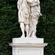 Schonbrunn Palace In Vienna Austria - Garden Statue Detail Art Print