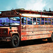 School Bus 5d24927 Art Print by Wingsdomain Art and Photography