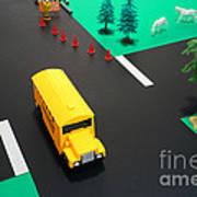 School Bus School Art Print
