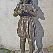 School Girl Sculpture In Saint John's-nl Art Print