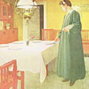 School Household, Dining Room Scene Art Print