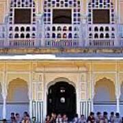 Schoolchildren At The Women's Palace - Jaipur India Art Print