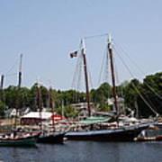 Schooner - Camden Harbor - Maine Art Print
