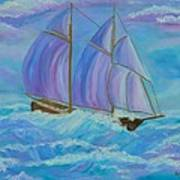 Schooner On The High Seas Art Print