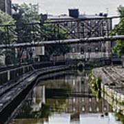 Schuylkill Canal In Manayunk Art Print by Bill Cannon