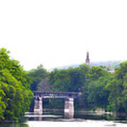 Schuylkill River At Manayunk Philadelphia Art Print by Bill Cannon