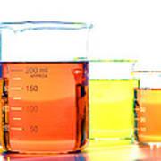 Scientific Beakers In Science Research Lab Art Print