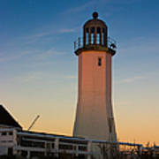 Scituate Lighthouse In Oct Art Print